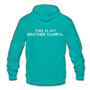 Brother Darryl - Unisex Fleece Zip Hoodie by American Apparel