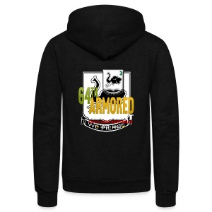 64th Armor Sweatshirt - Unisex Fleece Zip Hoodie by American Apparel