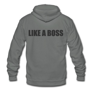 Like a Boss T-shirt (2) - Unisex Fleece Zip Hoodie by American Apparel