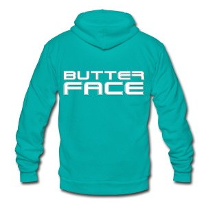 Butter Face T-shirt - Unisex Fleece Zip Hoodie by American Apparel