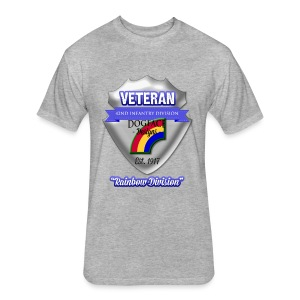 Veteran 42nd Infantry Division - Fitted Cotton/Poly T-Shirt by Next Level