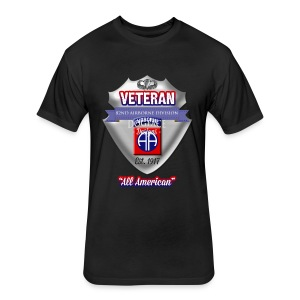 Veteran 82nd Airborne Division - Fitted Cotton/Poly T-Shirt by Next Level