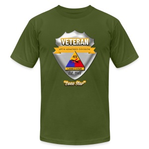 Veteran 49th Armored Division - Men's Fine Jersey T-Shirt