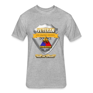Veteran 2nd Armored Division - Fitted Cotton/Poly T-Shirt by Next Level