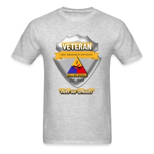 Veteran 2nd Armored Division - Men's T-Shirt
