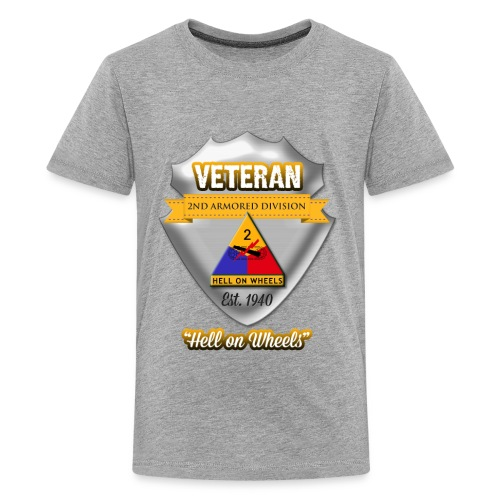 Veteran 2nd Armored Division - Kids' Premium T-Shirt