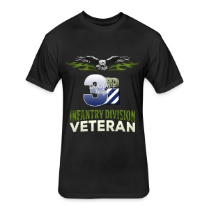 3rd Infantry Division - Fitted Cotton/Poly T-Shirt by Next Level