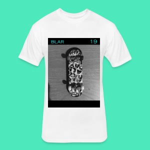 SKATEBLAR WHITE - Fitted Cotton/Poly T-Shirt by Next Level