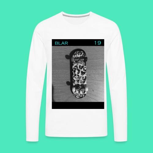 SKATEBLAR WHITE - Men's Premium Long Sleeve T-Shirt