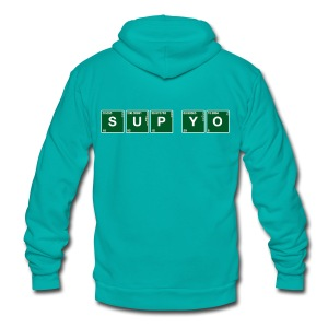 Atomic Symbol ... Sup Yo - Unisex Fleece Zip Hoodie by American Apparel