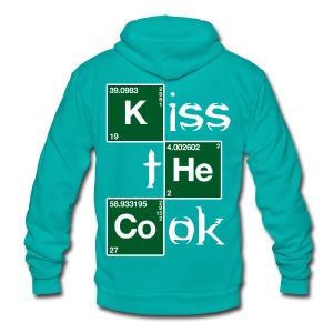 Kiss the Cook (2) - Unisex Fleece Zip Hoodie by American Apparel
