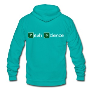 Atomic Yeah Science - Unisex Fleece Zip Hoodie by American Apparel