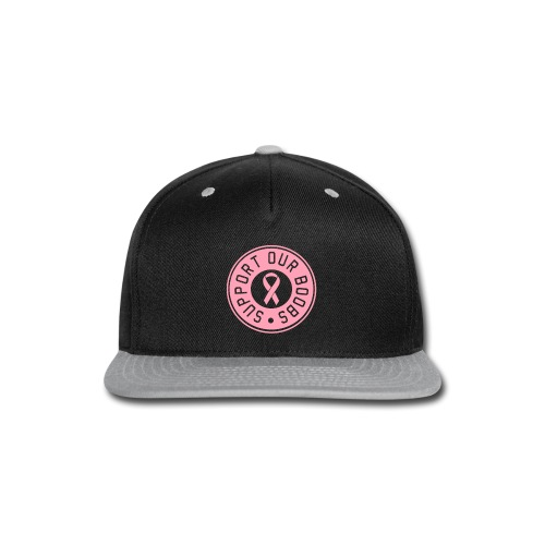 CURE BOOBS PINK TEE - Snap-back Baseball Cap