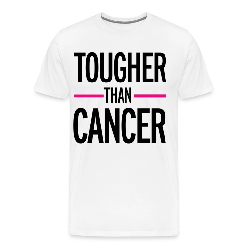 TOUGHER THAN CANCER TEE W/ RIBBON ON BACK  - Men's Premium T-Shirt