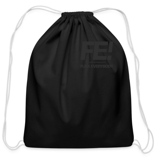 FE! Pocket Print - Cotton Drawstring Bag