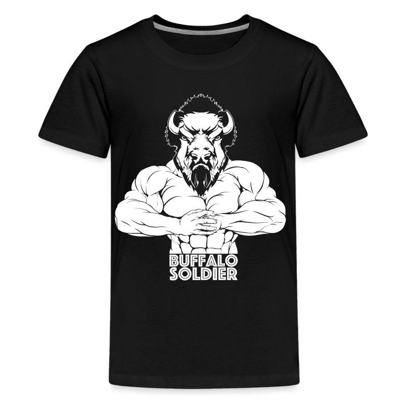 Buffalo Soldier Gym shirt - Kids' Premium T-Shirt