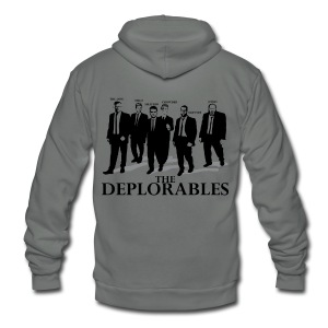 The Deplorables T-shirt - Unisex Fleece Zip Hoodie by American Apparel