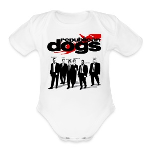 Republican Dogs T-shirt - Short Sleeve Baby Bodysuit