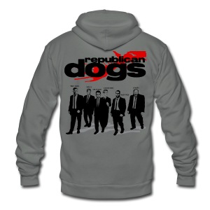Republican Dogs T-shirt - Unisex Fleece Zip Hoodie by American Apparel