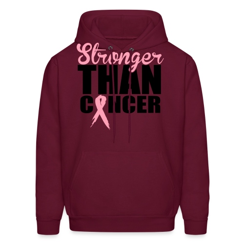 STRONGER THAN CANCER PINK TEE - Men's Hoodie