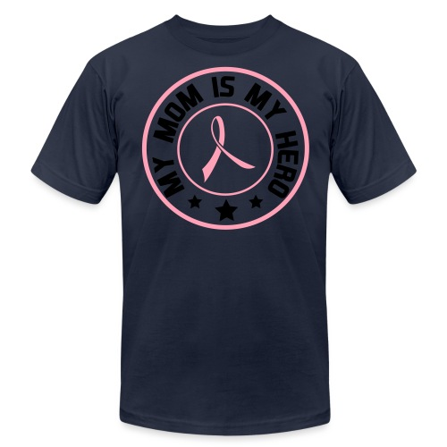MOM HERO PINK TEE - Men's Fine Jersey T-Shirt
