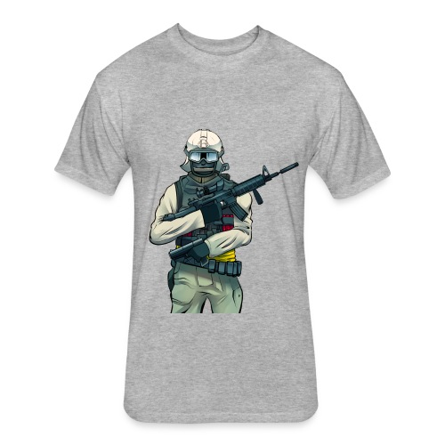 WDF Solider - Fitted Cotton/Poly T-Shirt by Next Level