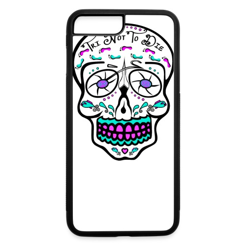 Relaxed fit - Tri Not To Die - Sugar Skull - iPhone 7 Plus/8 Plus Rubber Case