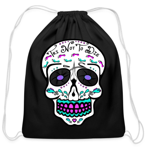 Relaxed fit - Tri Not To Die - Sugar Skull - Cotton Drawstring Bag