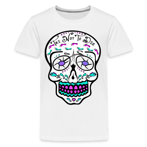 Relaxed fit - Tri Not To Die - Sugar Skull - Kids' Premium T-Shirt