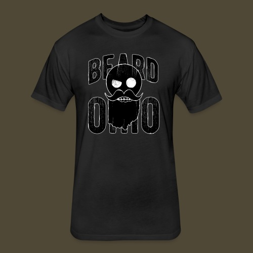 Beard Ohio - Fitted Cotton/Poly T-Shirt by Next Level