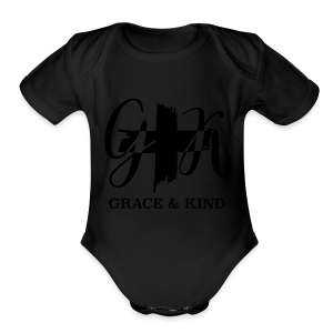 Grace & Kind, V-Neck Metallic - Short Sleeve Baby Bodysuit