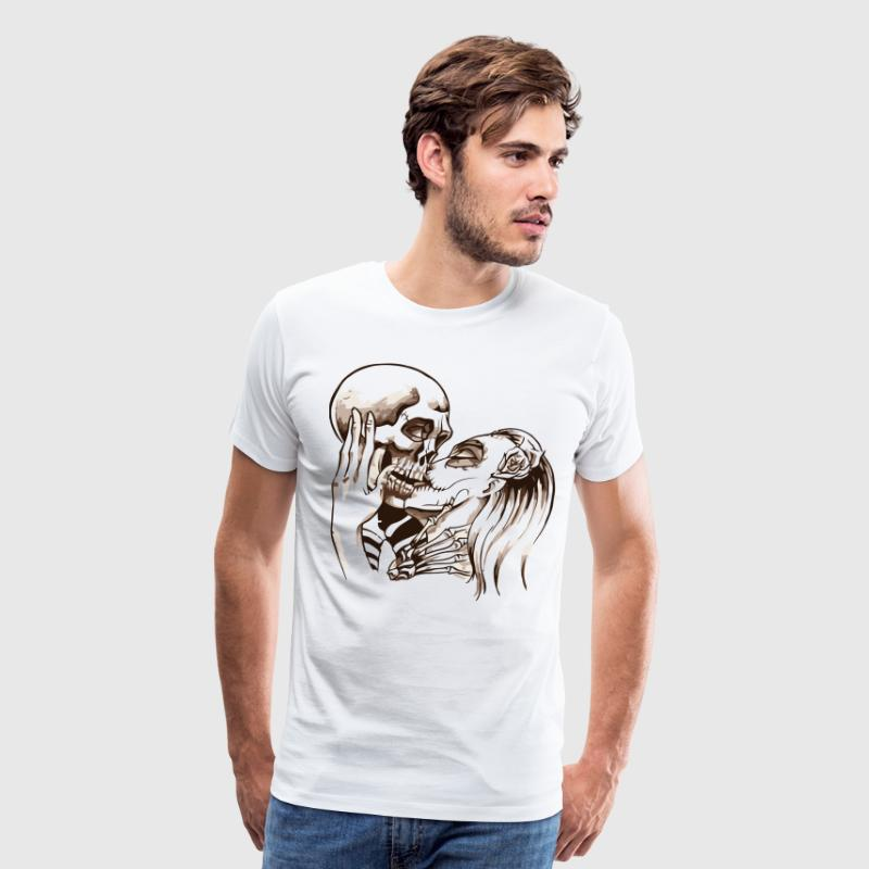 kissing skull - Men's Premium T-Shirt