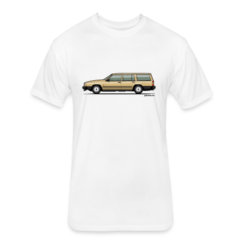 Volvo 740 745 Wagon Gold - Fitted Cotton/Poly T-Shirt by Next Level