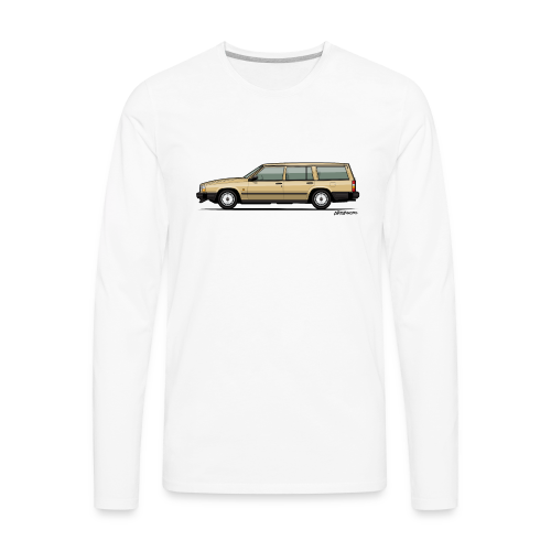 Volvo 740 745 Wagon Gold - Men's Premium Long Sleeve T-Shirt