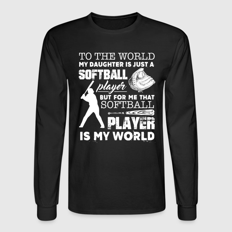 Softball Dad Shirts - Men's Long Sleeve T-Shirt