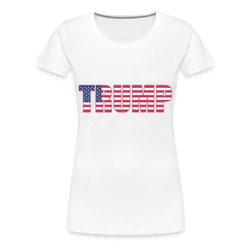 Trump - US Flag - Women's Premium T-Shirt