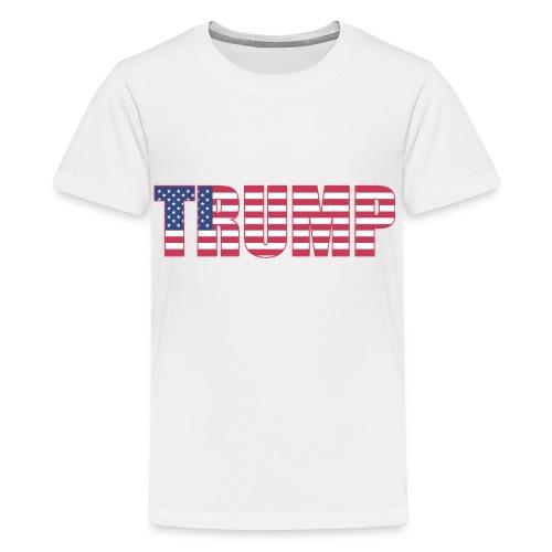 Trump - US Flag - Kids' Premium T-Shirt