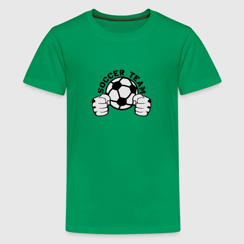 soccer foot team fist Kids' Shirts - Kids' Premium T-Shirt