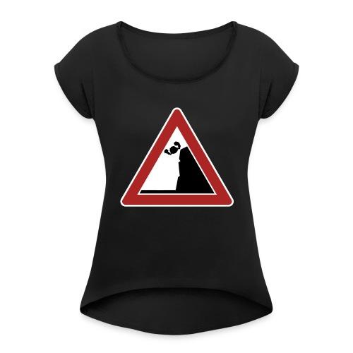 Falling   womens - Women's Roll Cuff T-Shirt
