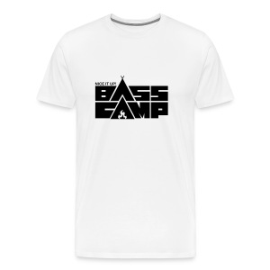 Bass Camp White Hoodie - MEN - Men's Premium T-Shirt