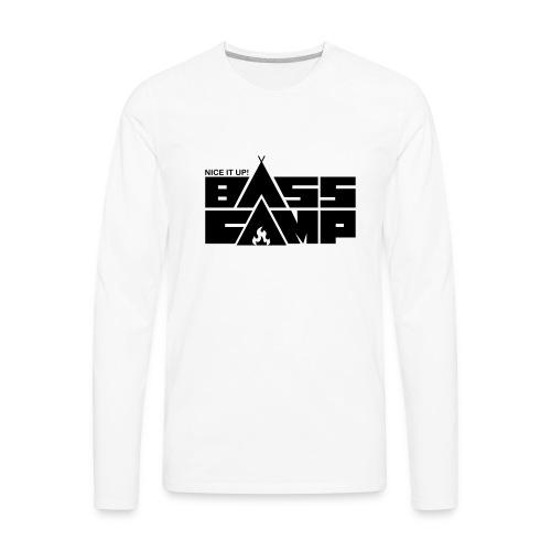 Bass Camp White Hoodie - MEN - Men's Premium Long Sleeve T-Shirt