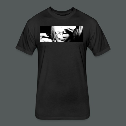Smoke up - Fitted Cotton/Poly T-Shirt by Next Level