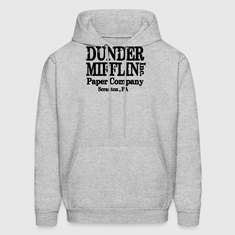 LARGE DUNDER MIFFLIN THE OFFICE VINTAGE COLLEGE  - Men's Hoodie