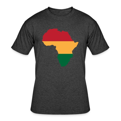 Africa - Red, Gold, Green - Men's 50/50 T-Shirt