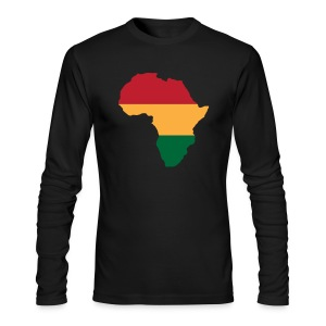 Africa - Red, Gold, Green - Men's Long Sleeve T-Shirt by Next Level
