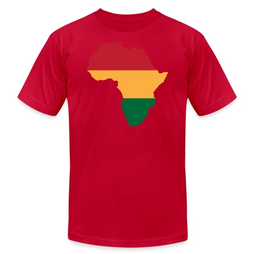 Africa - Red, Gold, Green - Men's Fine Jersey T-Shirt
