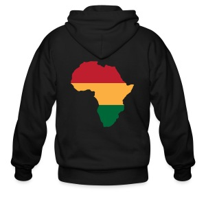 Africa - Red, Gold, Green - Men's Zip Hoodie
