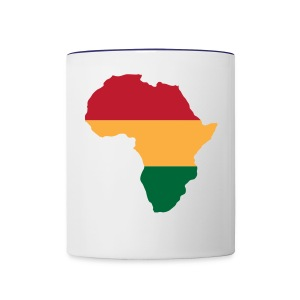 Africa - Red, Gold, Green - Contrast Coffee Mug