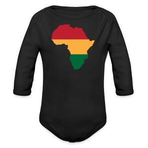 Africa - Red, Gold, Green - Long Sleeve Baby Bodysuit