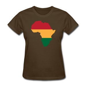 Africa - Red, Gold, Green - Women's T-Shirt